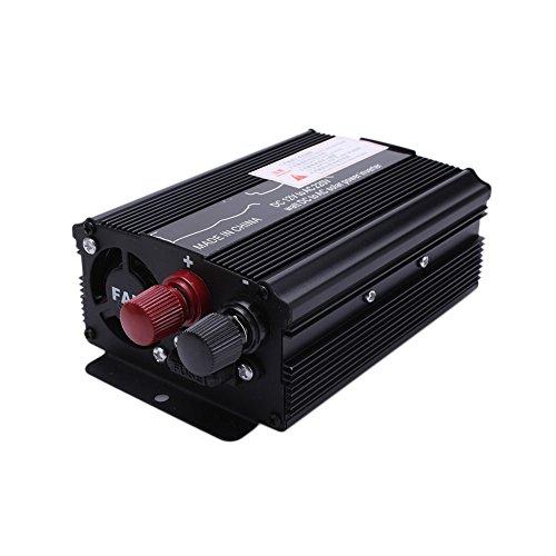 TOPmountain Inverter per Auto, 3000 W Peak Dc 12V per Ac220V   110V AC Converter con Display e Porta USB per Auto Inverter - 12V a 220V; Nero