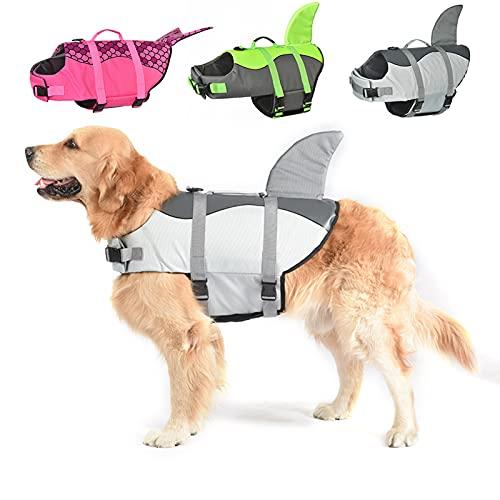 Schwimmweste für Hunde, Hai, Ripstop, Schwimmweste für Haustiere, Welpen, Schwimmweste für Wassersicherheit im Pool, Strand, Bootfahren.
