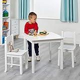 Liberty House Toys–Juego de Mesa de Madera y 2sillas, Madera, Color Blanco
