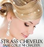 Accessoires cheveux pas cher, Bijoux cheveux mariage irisés promo 48 STRASS CHEVEUX IRISES. Orné...
