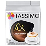 TASSIMO L'OR Cappuccino Coffee Capsules Refills T-Discs Pods, 8 Drinks