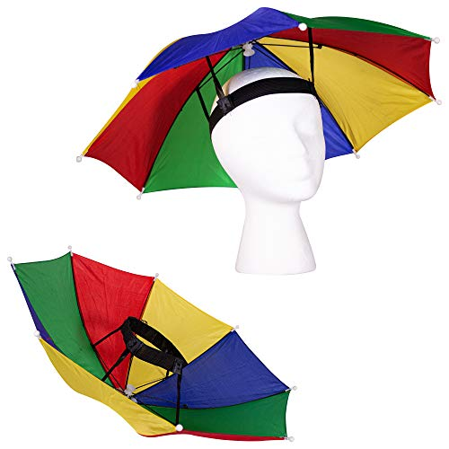 "13"" Rainbow Umbrella Hat for Adults and Kids"