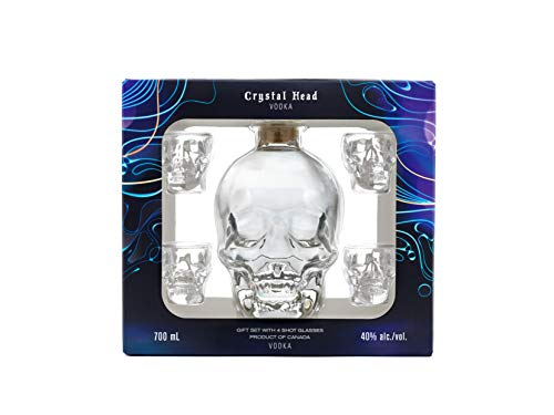 Crystal Head Crystal Head Vodka 40% Vol. 0,7l in Giftbox with 4 Shotgläsern - 700 ml