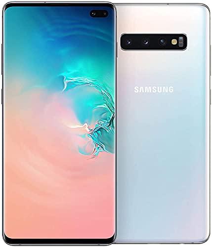 Samsung Galaxy S10+ Smartphone, 128GB, Display 6.4', Dual SIM, Bianco (Prism White) [Altra Versione Europea]