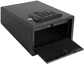 "Dalmbox Small Gun Safe Gun Vault Smart Quick Access Pistol Safe Security Cabinet Handgun Lock Box for Car 11.4"" x 9"" x 5.5"""