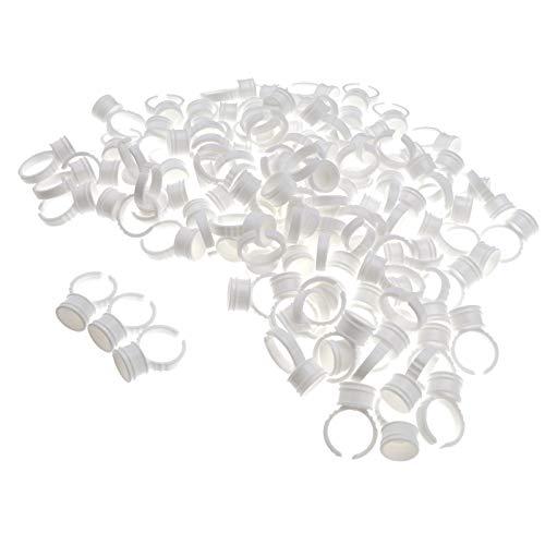 ENET Set van 100 Microblading Tattoo Wimper Lijm Ring Cups Inkt Pigment Houder M Size