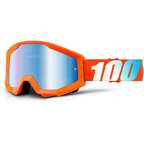 100 Percent STRATA Goggle Orange - Mirror Blue Lens