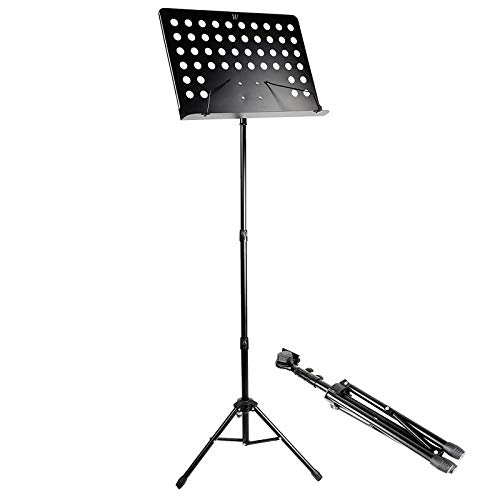 STRONG AND SECURE MUSIC STAND FOR ANY MUSICIAN ADEPTNA HEAVY DUTY DESIGNED FULLY ADJUSTABLE ORCHESTRAL MUSIC SHEET STAND