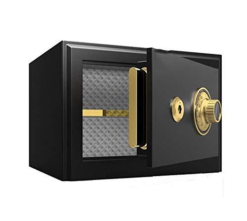 LLRYN Cerradura de combinación mecánica, Cajas Fuertes de la Oficina de contraseña, código de Cama Seguro de Caja de Seguridad en Efectivo de Acero de Acero