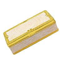 chiwanji 古典的な長方形のジュエリーボックスオーガナイザーストレージショーケーストレジャーチェスト - ゴールド