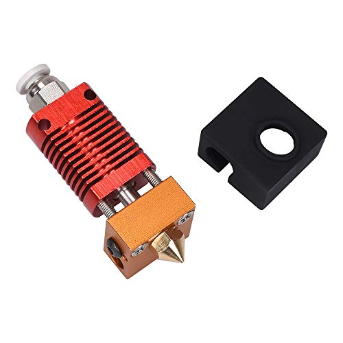 3D-Drucker-Zubehör Partes de la Impresora CR10 Hotend Extrusora Extrusora MK8 Kit 3D for Ender-3 CR10 Impresora 1.75mm 0.4mm tobera del Calentador del Bloque de Piezas QPLNTCQ