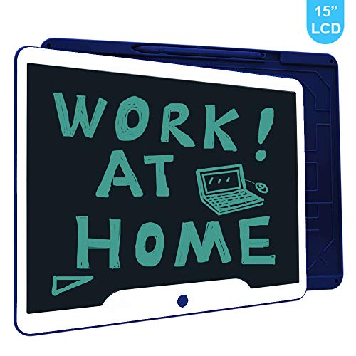 LCD Writing Tablet, Richgv 15 Inches Writing Doodle Board Electronic Digital Writing Pad for Kids and Adults at Home,School,Office Blue