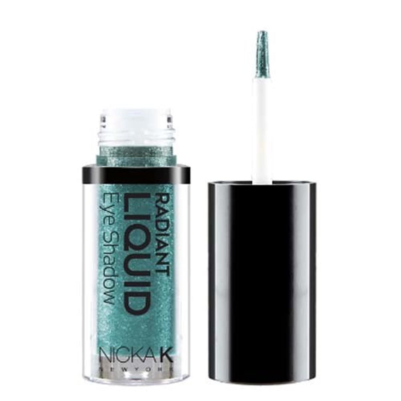 防衛オフェンス億(6 Pack) NICKA K Radiant Liquid Eye Shadow - Marineblue Sparkle (並行輸入品)