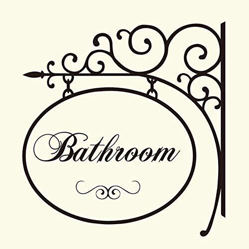 Muursticker slaapkamer decoratieve wandtattoos badkamer kleerhanger teken wasruimte raam home belettering woorden decor 57X57cm