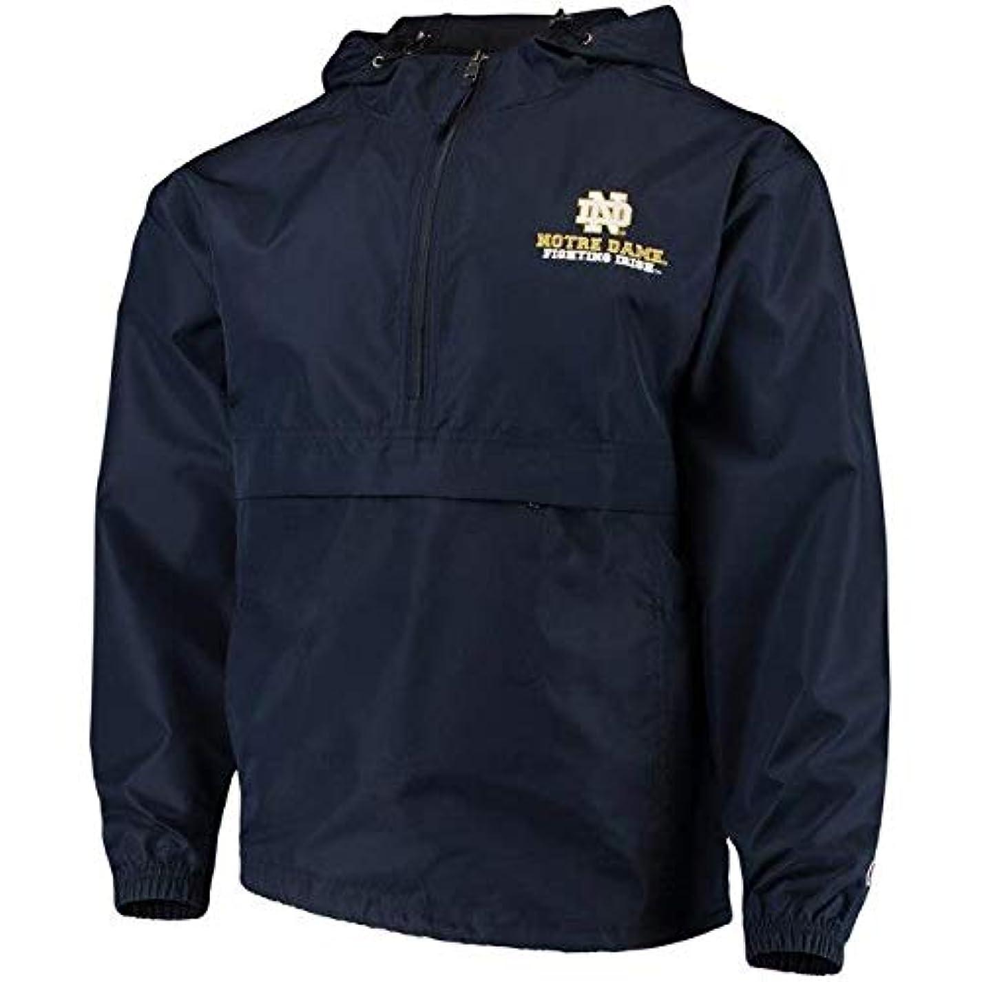 うれしい効能故障中Champion Champion Notre Dame Fighting Irish Navy Packable Jacket スポーツ用品 【並行輸入品】