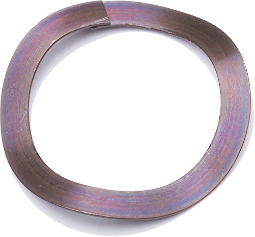 Associated Spring Raymond WWO007501014 Carbon Steel Wave Washer with Overlap, 3 Waves, SSR English, 0.5' ID, 0.75' OD, 0.01' Thickness, 0.16' Free Height (Pack of 10)
