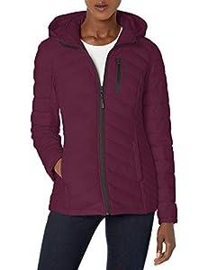 Nautica Women's Short Lightweight Stretch Jacket, Deep Sea Purple, Large