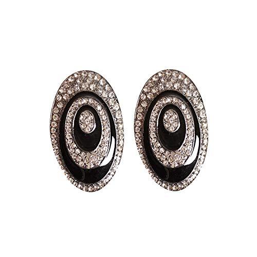 Arete Cruztriángulo Joyas hermosas de moda para mujer Chica Niños Fiesta de cumpleaños Negro Gota Aceite Hermoso traje Pendientes