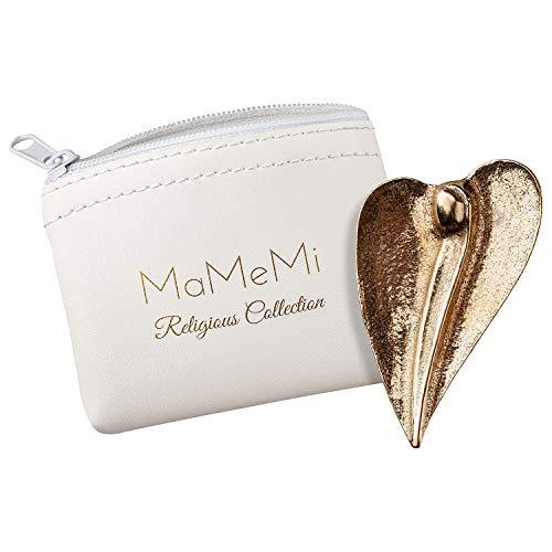 MaMeMi Bronze-Handschmeichler Herz-Engel mit Aufbewahrungs-Etui