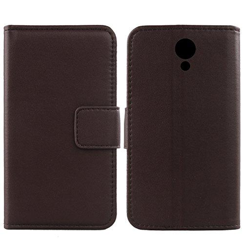 Gukas Design Echt Leder Tasche Für Archos Core 50 5.0