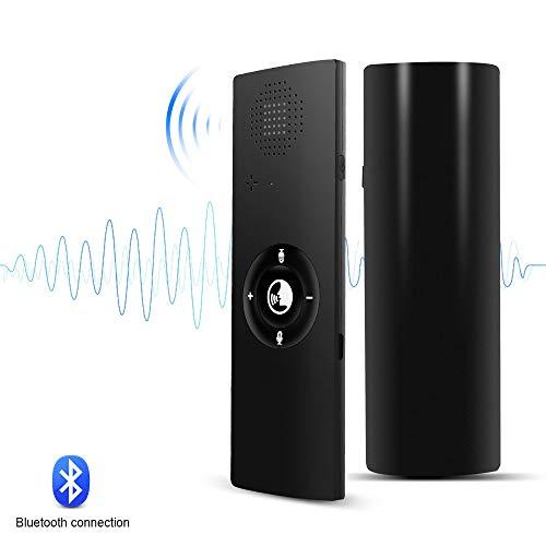 YANXS Intelligente Translaty Istantaneo Traduttore Vocale Bluetooth Senza Fili Connessione 40 Lingue Tempo Reale Portatile per Viaggiare attività Commerciale Apprendimento,Nero