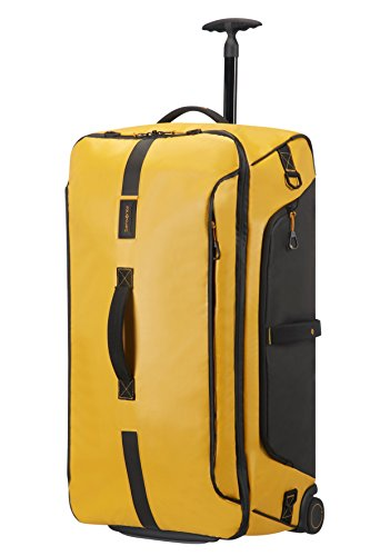 Samsonite Paradiver Light Borsa con Ruote Unisex, Giallo (Yellow), L (79cm-121.5L)