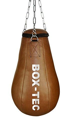 Box-Tec Maisbirne Boxbirne Schlagbirne Uppercut Punchingball Retro, gefüllt inkl. Dreipunkt-Kette