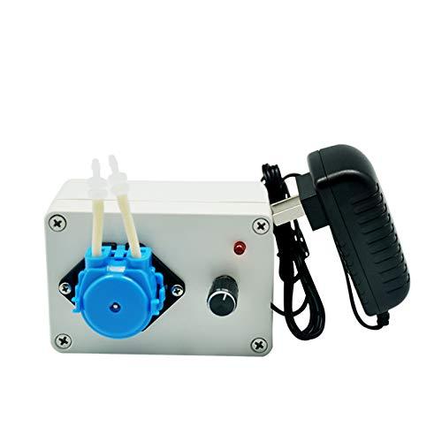 BIKEULTIMATE KCP-C 24V Intelligent peristaltische Wasserpumpe Maschine mit DC-Motor Bunten Pumpenkopf für Labor,Blau,KCp~c~S04b