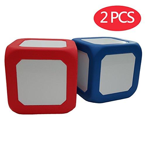Makro Riesiger 12,7 cm Schaumstoffblock, trocken radierbar, 2 Stück, rot & blau, Lehrhilfe, Kinderspielzeug, Würfelspielzeug, Mathematikunterricht