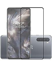 POPIO Tempered Glass for OnePlus Nord (Black) Edge to Edge Full Screen Coverage