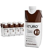 Volledige maaltijd SATURO, Proteïneshake, Kant-en-klaar en Betaalbaar Voedsel, Chocola, 330 kcal, 8 x 330 ml