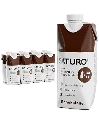 SATURO® Trinknahrung Schokolade | Astronautennahrung Mit Protein & 330kcal | Trinknahrung Mit Wertvollen Nährstoffen | 8 x 330ml