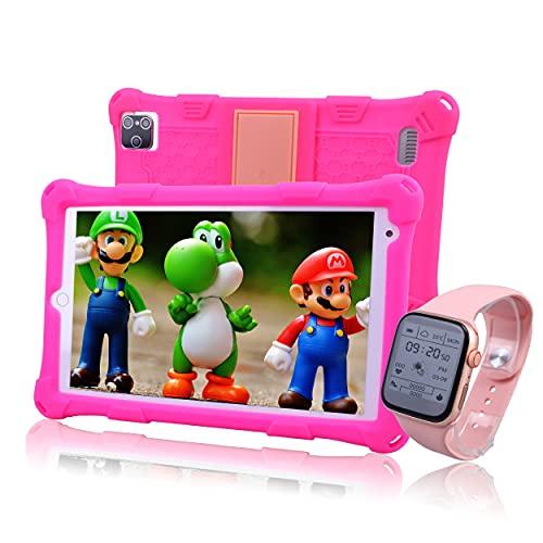 IBALKLINE Tablet per Bambini 8 Pollici,Android 10.0,4GB RAM + 64GB ROM,quad core,3G+wifi,Supporta youtube, Disney+, tiktok,dotate di orologio intelligente per bambini