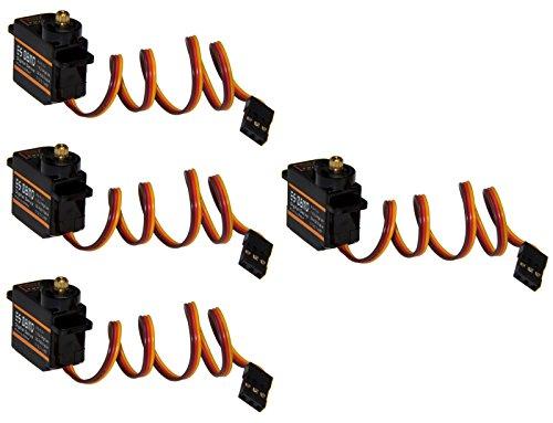 Adapter Universe 4 x Emax ES08MD RC Servo Digital Metall Gear Micro Servo 12g 0,08s 2kg