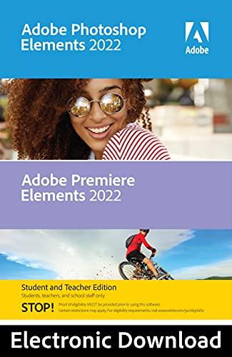 Adobe Photoshop Elements & Premiere Elements 2022 - Student Teacher Edition | PC Code