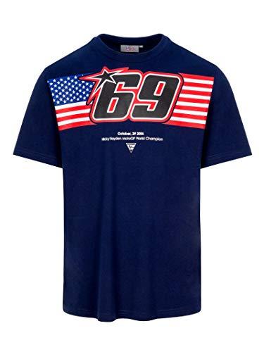 Nicky Hayden T-Shirt 69 USA Flagge Blau MotoGP Official 2020