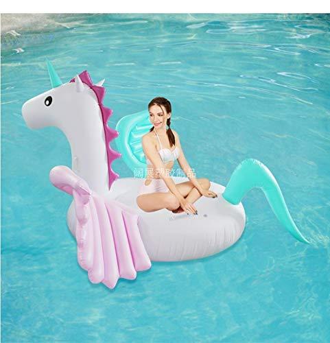 Svvsgf Umweltschutz Wasser aufblasbare Süßigkeiten Farbe Pferd Pegasus weißen Drachen Pferd Farbe Pegasus Mount schwimmende Reihe schwimmendes Bett
