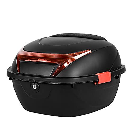 HDGFYTOR Baúl de Moto Universal 32L con Llaves y Accesorios Topcase Casco Moto Caja de Motocicleta Ciclomotores Scooter