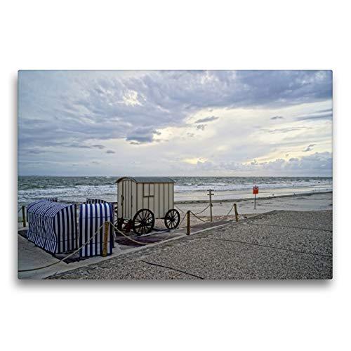 CALVENDO Premium Textil-Leinwand 75 x 50 cm Quer-Format Norderney - Badekultur der Vorväter, Leinwanddruck von Philipp Weber