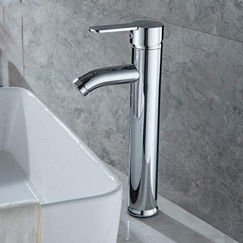 Küchenarmatur Bad Wasserhahn Waschbecken Mischbatterie Wasserhahn Edelstahl Chromstahl Einhand Einlochmontage Waschbecken Wasserhahn Waschbecken Mischbatterie, Yue QiSong