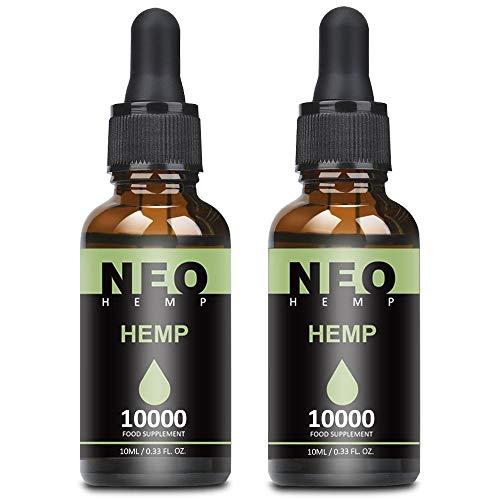 2 Pack Natürliches Öl Tropfen 90 Prozent-10ML, Höchste Qualität Öl, 100% Vegan (10000)