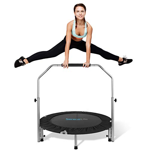 SereneLife Portable & Foldable Trampoline - 40' in-Home Mini Rebounder...