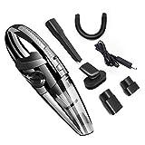 Organizador del coche Seco del coche y Wet Aspirador robot inalámbrico de mano Auto Vacuum Cleaner, for interior del coche (Color : Negro)