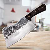 7.5 pulgadas de tajada de hueso Cuchillo hecho a mano Forjado de carne Huesos Huesos Hortalizas Chein Cachinera Cuchillo de cocina Cuchillo de acero inoxidable