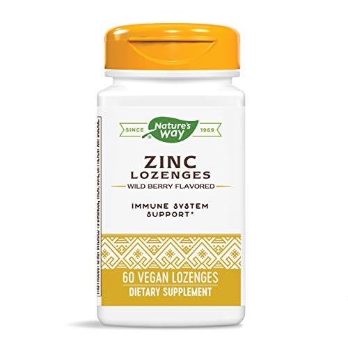 Nature's Way Zinc Lozenges, Wild Berry Flavored, 60 Lozenges