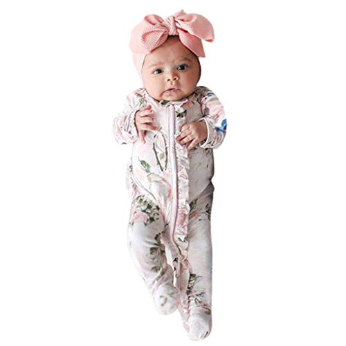 Julhold Conjunto de pijama para niños pequeños recién nacidos, ropa de dormir para bebés y niñas
