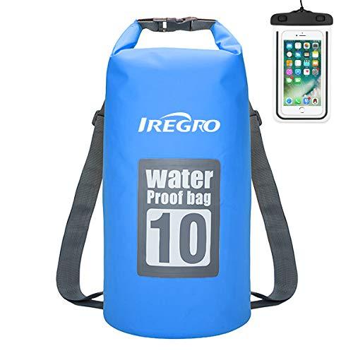IREGRO Trockentasche Trockenbeutel Dry Bag Wasserdichter Brustbeutel Dokumententasche Handyhülle Wasserdichter Sack Packsack (B10L)
