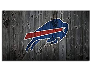 MIAUEN Buffalo Bills Poster Framed Wall Art Canvas Prints Pictures Sports Football Home Decor Decoration Living Room Bedroom Game Room Paintings Ready to Hang(28''Wx16''H)