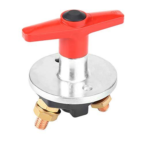 Interruptor de corte de batería de llave fija para coche 300A 12V-60V Desconexión Aislador de energía Negro + Rojo Ajuste universal para coche Interruptor de desconexión de batería clave