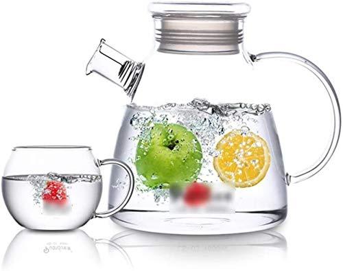 GAOYINMEI Tetera Tetera de Cristal de la Taza del jarro con Tapa de Hielo Vaso de Agua fácil de Limpiar fácil de llenar Muy Adecuado for el Jugo de café Agua Café Jugo Restaurante (Size : B)